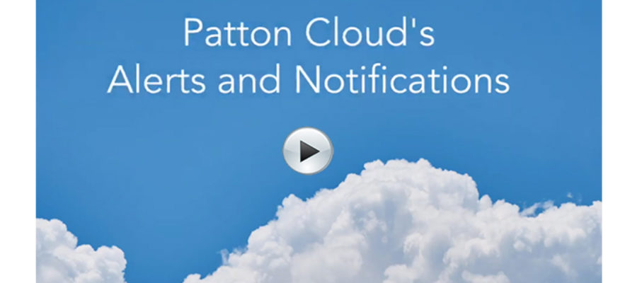 Patton Cloud's Alerts and Notifications