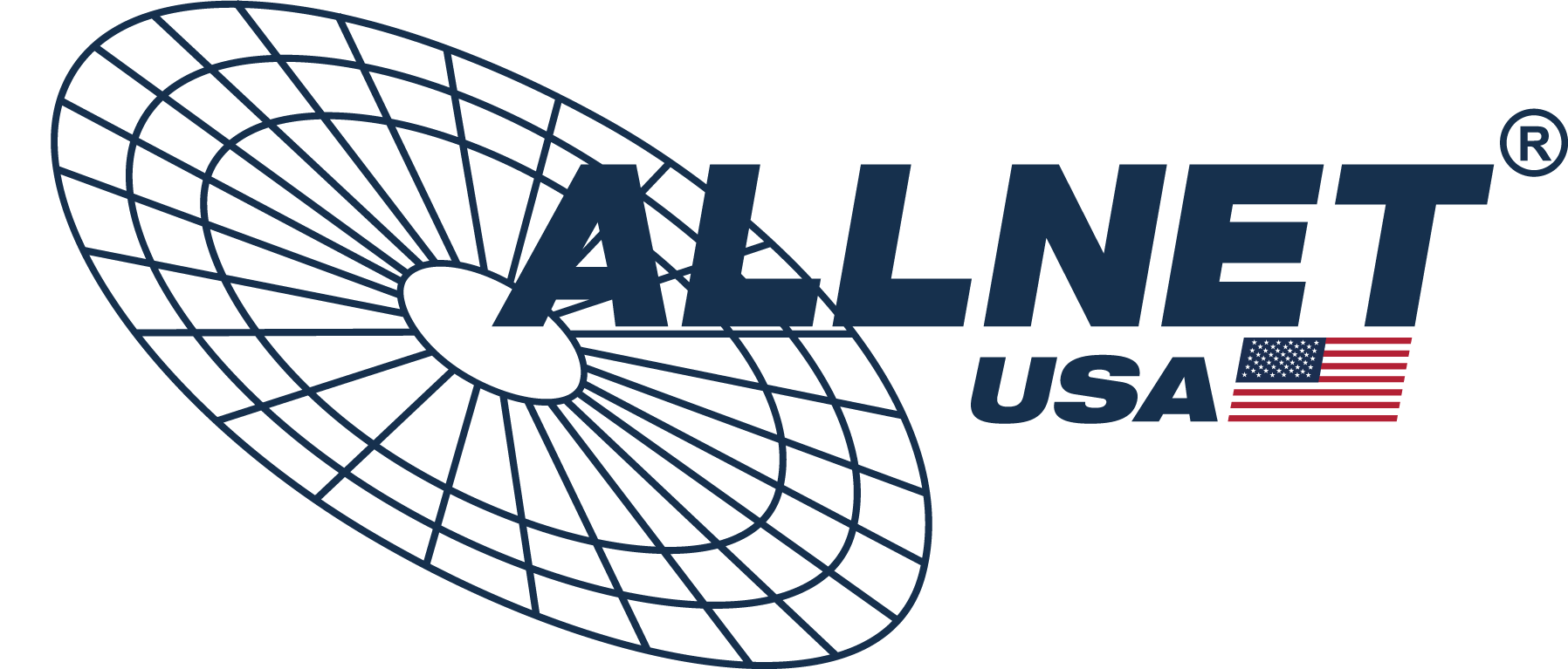 ALLNET USA Logo with American Flag