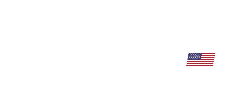 ALLNET USA Logo White with Color American Flag