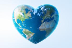 Heart Shaped World Globe
