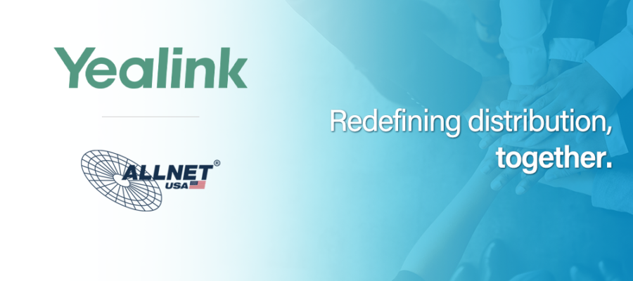 Yealink and ALLNET Partner Distribution Banner
