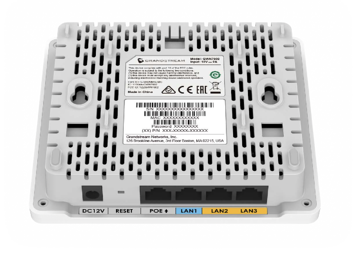 Fig.B Grandstream Networks GWN7602 802.11ac depicted with the integrated 4 port ethernet switch ports