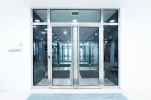 Glass Office Building Doors