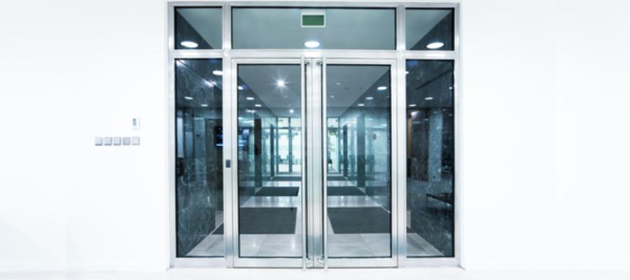 Glass Office Building Doors