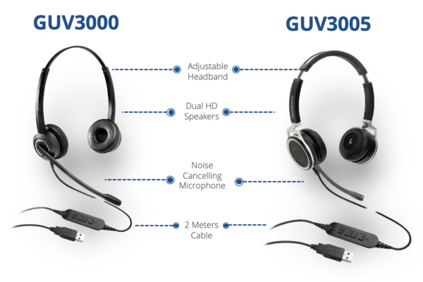 GUV3000 and GUV3005 HD USB Headsets